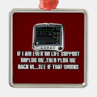 Funny slogan christmas ornament