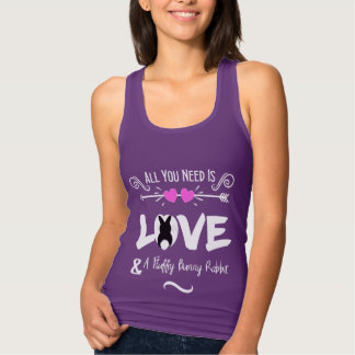 Funny Slogan Love Bunny Rabbits Theme Graphic Tank Top