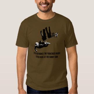 Funny slogan parachuting shirts