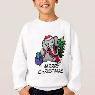 Funny Slogan Sweet Cartoon Elephant Christmas Sweatshirt