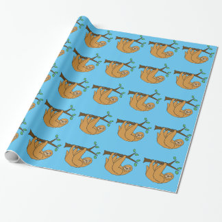 Funny Sloth Cartoon Wrapping Paper