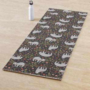 Funny Sloth Pattern Yoga Mat