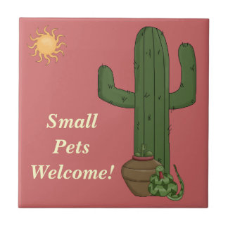 Funny Small Pets Welcome Rattlesnake Snake Lover Small Square Tile