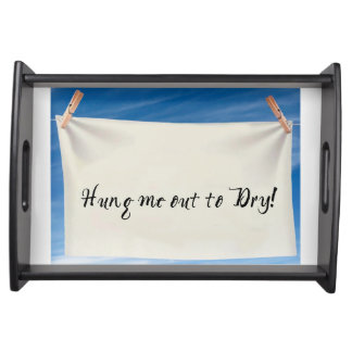 Funny Small Serving Tray, Black Serving Tray