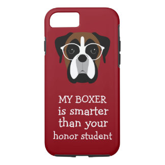 Funny Smart Boxer Dog iPhone 7 Case
