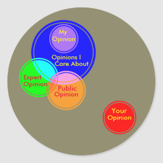 Funny Smart Venn Diagram Chart Joke Round Sticker