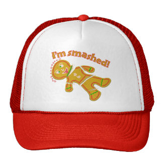 Funny Smashed Gingerbread Christmas Cap