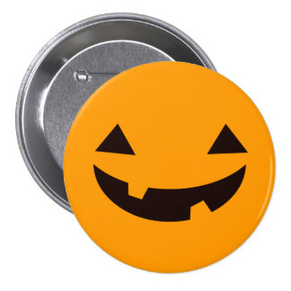 Funny Smile Jack O Lantern Happy Halloween 7.5 Cm Round Badge