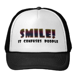 Funny Smile T-shirts Gifts Mesh Hats