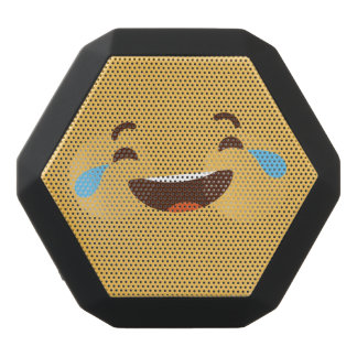 Funny Smiley Face. Emoji. Emoticon. Black Bluetooth Speaker