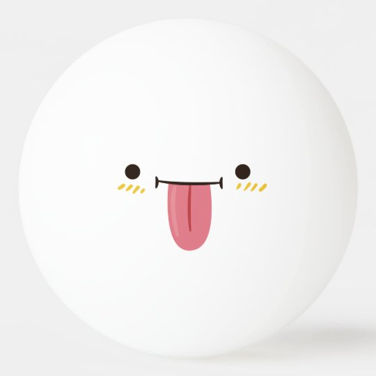 Funny Smiley Face. Emoji Emoticon. Playful Smiley. Ping