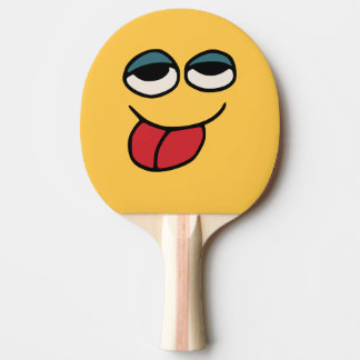 Funny Smiley Sticking OutTongue Ping Pong Bat Ping Pong Paddle