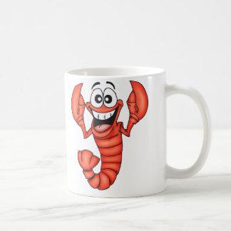 Funny Smiling Lobster Basic White Mug
