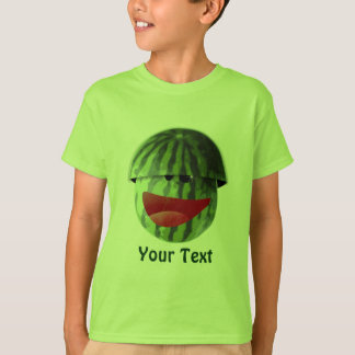 Funny Smiling Watermelon Kids Picnic T-shirt