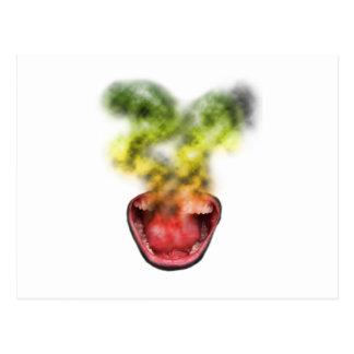Funny Smoke Weed Life Postcard