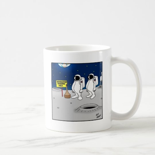 Funny Smoking in Space Cartoon Gifts Coffee Mug