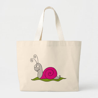 funny snail large tote bag