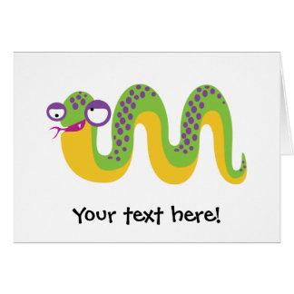 Funny Snake Card
