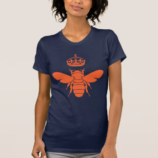 Funny Snarky Orange Queen Bee Logo Custom T-Shirt