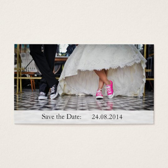 Funny Sneakers Save the Date Wedding Business Card