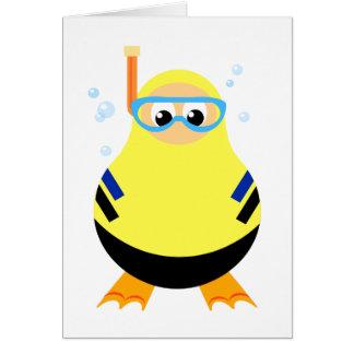 Funny Snorkel Diver Card