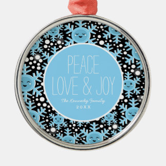 Funny Snowflakes Pattern Christmas Ornament
