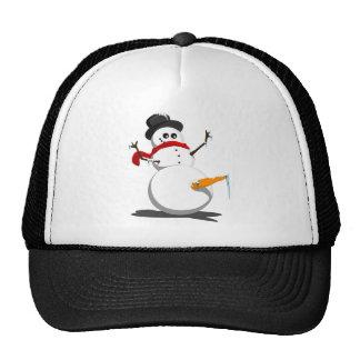 Funny Snowman Trucker Hat