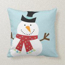 Funny Snowman Christmas Custom Pillows