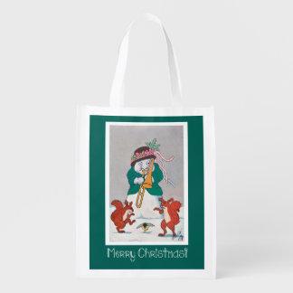 Funny Snowman Christmas Tote Bag