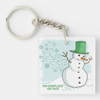 Funny Snowman Farts Snowflakes Key Ring