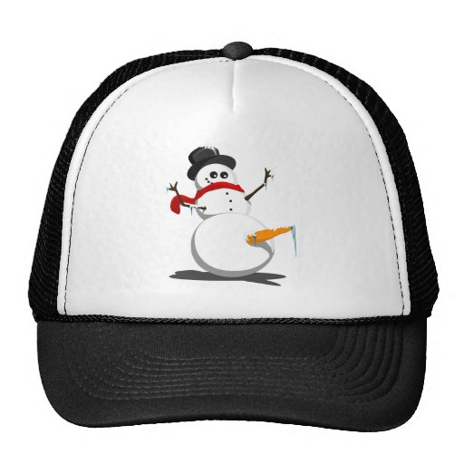 Funny Snowman Mesh Hat