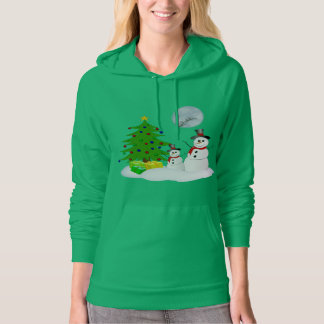 Funny Snowman Holiday Hoodie