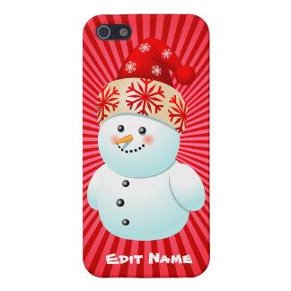 Funny Snowman Kid Cartoon iPhone 5/5S Cover