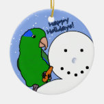Funny Snowman Parrotlet Ornament