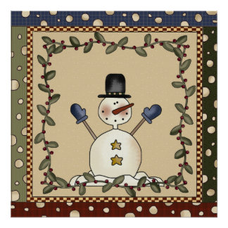 Funny Snowman  Poster