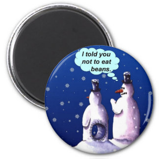 Funny Snowmen Cartoon Magnet