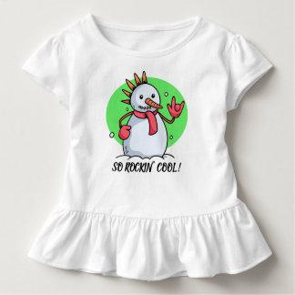 Funny So Rockin' Cool Snowman | Ruffle Tee