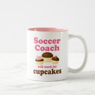Funny Soccer Coach Two-Tone Mug
