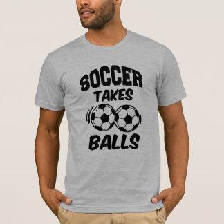 Funny Soccer Takes Balls funny saying men's shirt