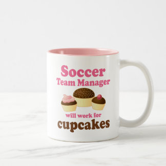 Funny Soccer Team Manager Two-Tone Mug