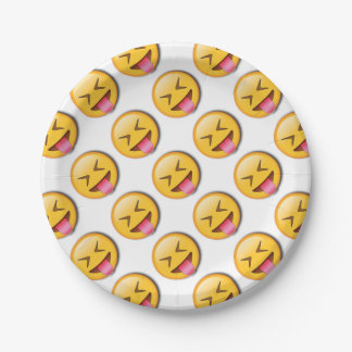Funny Social Emoji 7 Inch Paper Plate