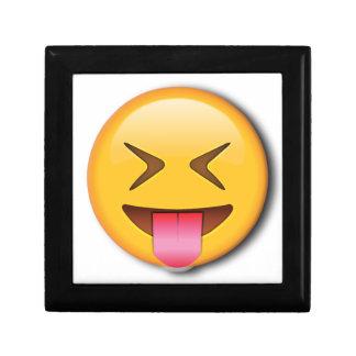 Funny Social Emoji Small Square Gift Box