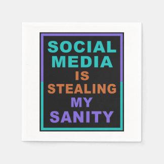 "Funny ""Social Media"" paper napkins"