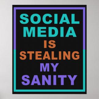 """Funny """"Social Media"""" poster"""