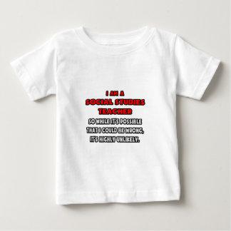 Funny Social Studies Teacher .. Highly Unlikely Tee Shirt