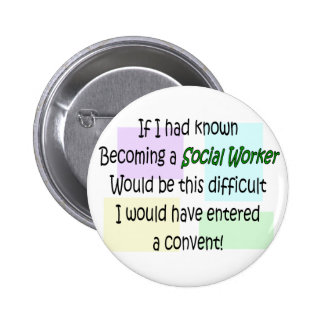 Funny Social Worker Gifts 6 Cm Round Badge