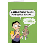 Funny Sock Monkey Birthday Card