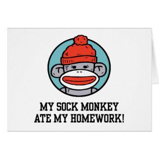 Funny Sock Monkey Greeting Card