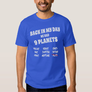 Funny Solar System, 9 Planets T Shirt