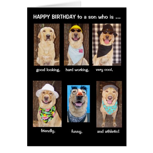 Funny Son Birthday Greeting Cards